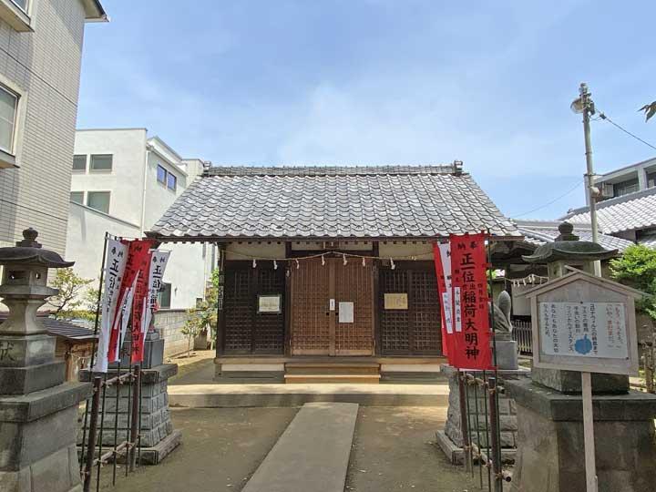 出世稲荷神社。川越市松江町の神社