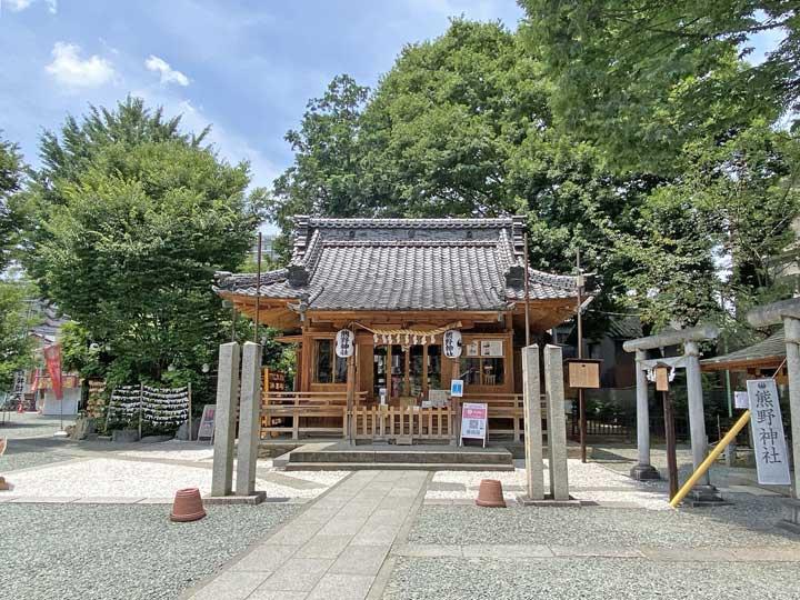 川越熊野神社。川越市連雀町の神社、旧村社