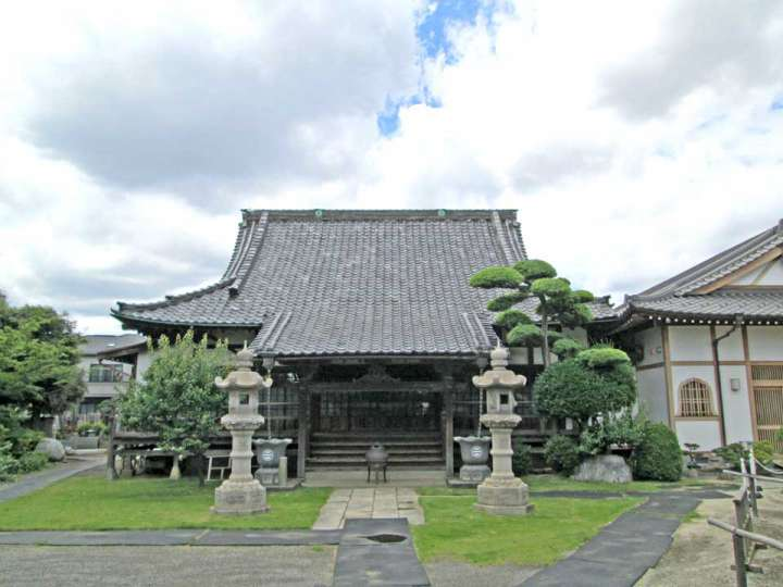 宝樹院。蕨市中央にある臨済宗建長寺派寺院
